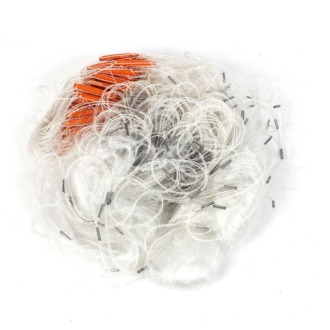 Fisherman 2 Layers White Monofilament Meshy Fish Fishing Gill Net 60Mx1.2M