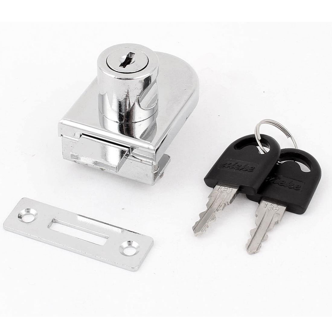 Showcase Display Cupboard Cabinet Glass Door Security Drawer Lock w 2 Keys