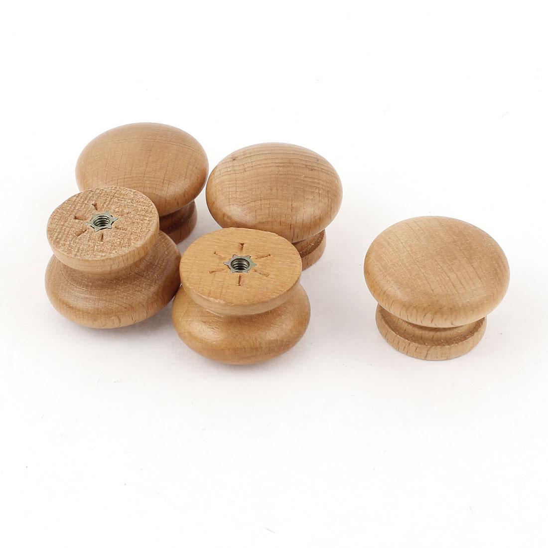 5Pcs Hardware Wooden Door Knob Wardrobe Cabinet Drawer Pull Handle