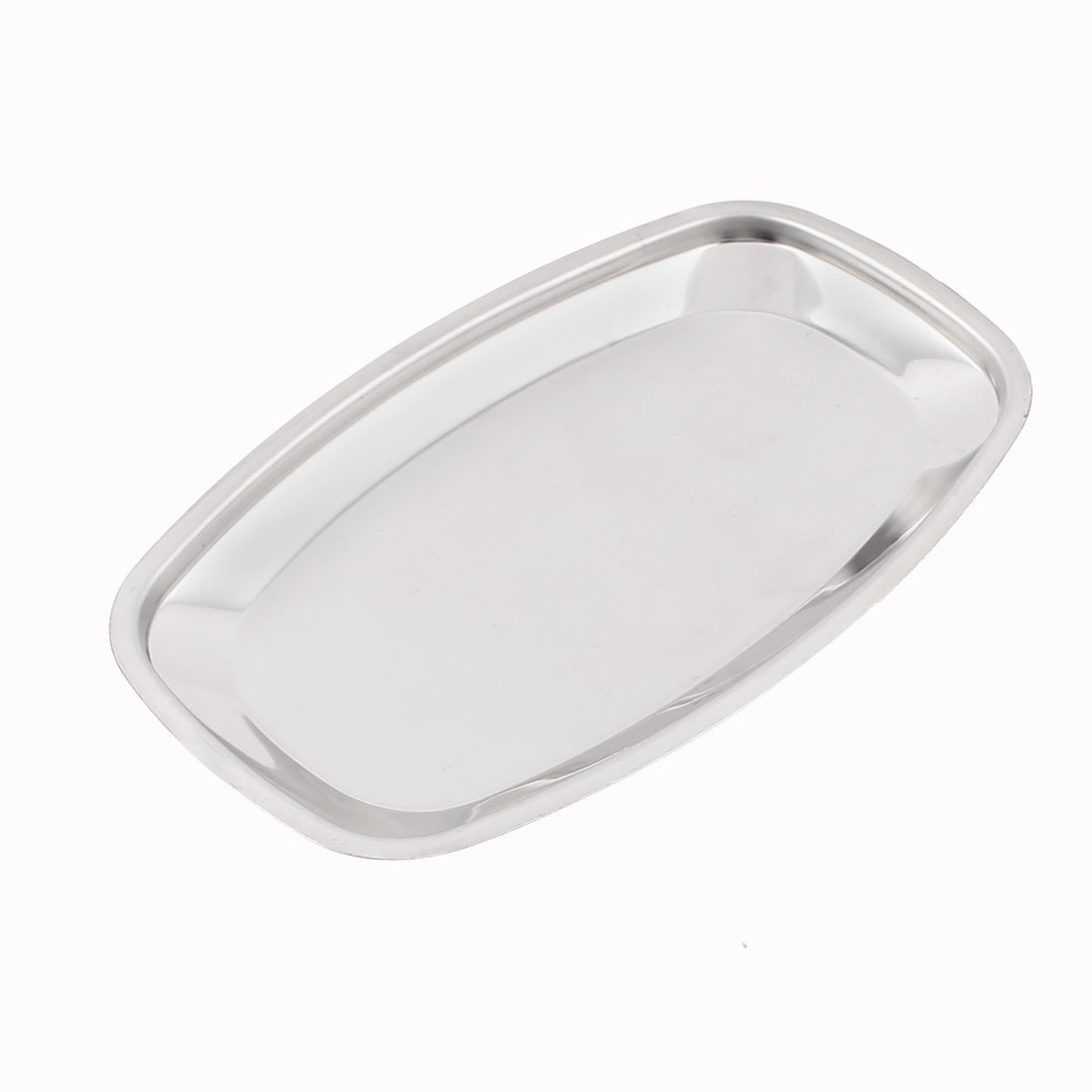 18cm x 11cm Strainless Steel Oval Napkin Towel Fruit Dish Plate Tray