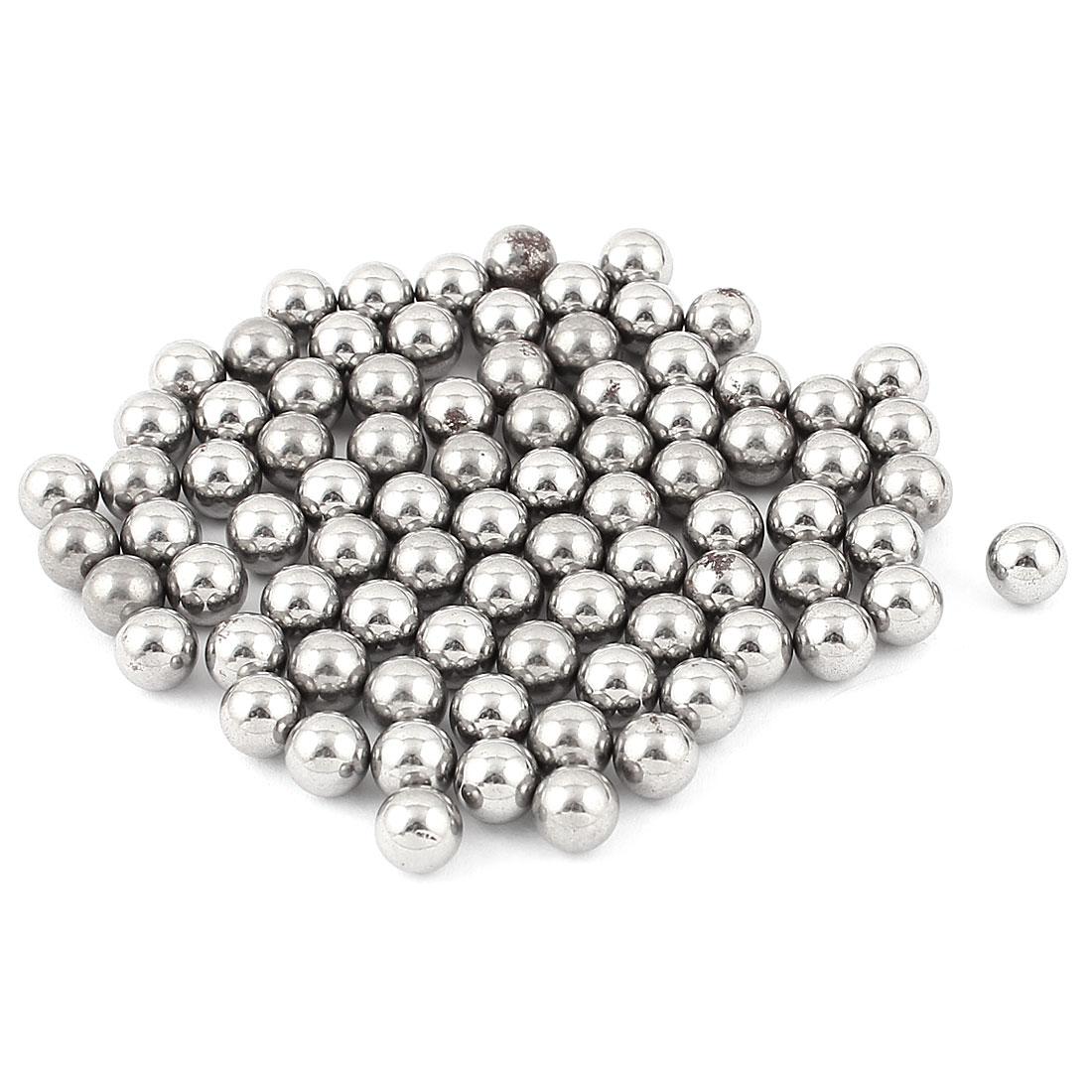 80Pcs Bike Bicycle Wheel Carbon Steel Balls Bearing 8mm Diameter Silver Tone