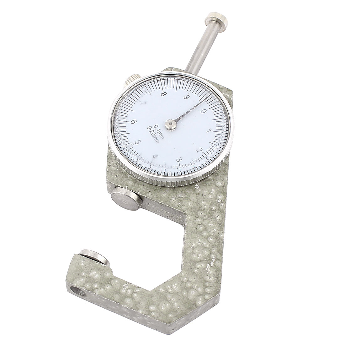 0-20mm x 0.1mm Dial Thickness Gauge Gage Pocket Measuring Tool Gray