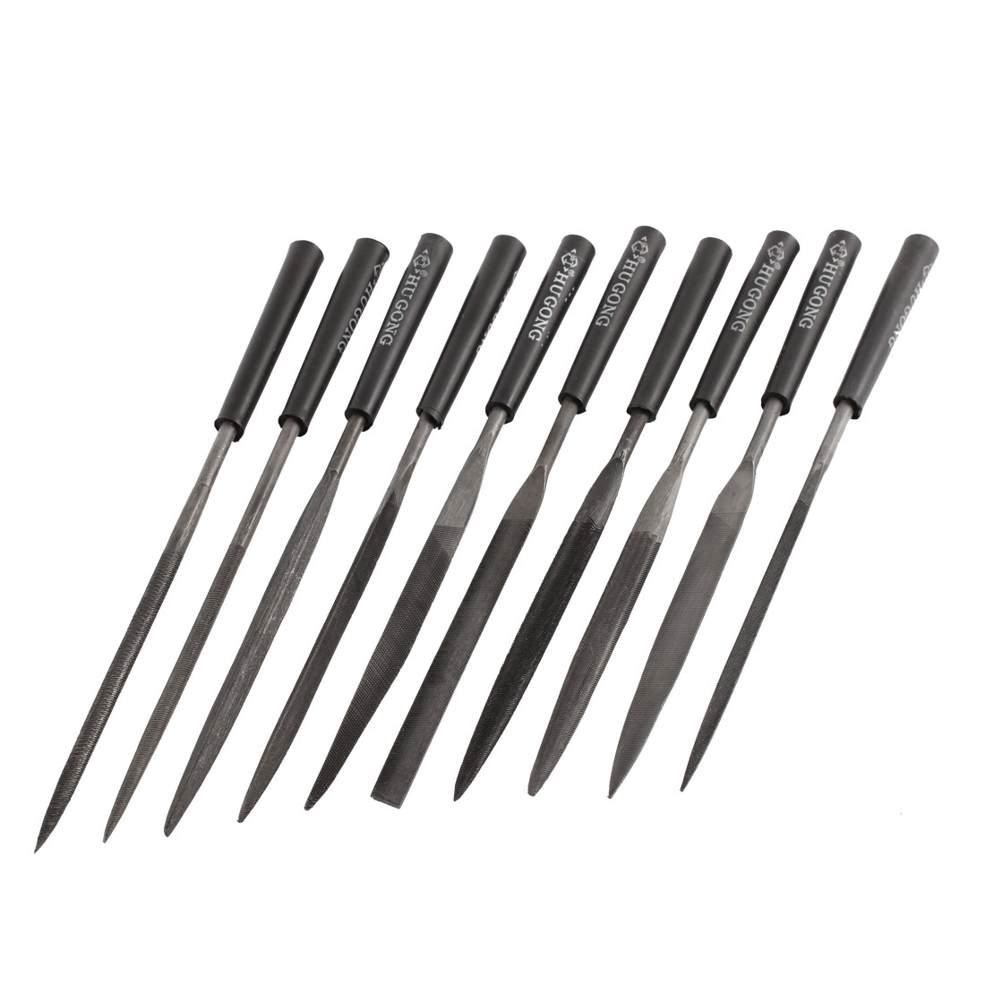 4mm x 165mm Jeweler Wood Carving Craft Min Needle File Kit 10 Pcs