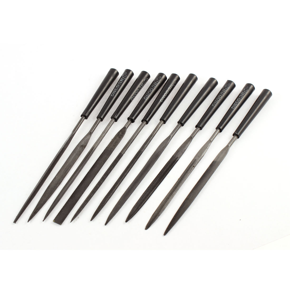10 Pcs Metal Hobby Jewellers Repair Tools Precision Needle File Set 3 x 145mm