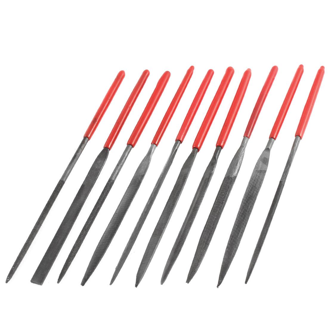 10 Pcs Wood Carving Craft Hardware Precision Mini Needle File Set 3 x 140mm