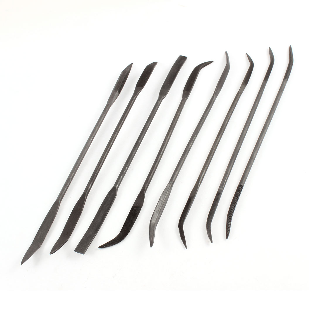 8 Pcs Double Heads Triangle Round Woodworking Hand Tool Flat Needle File Set
