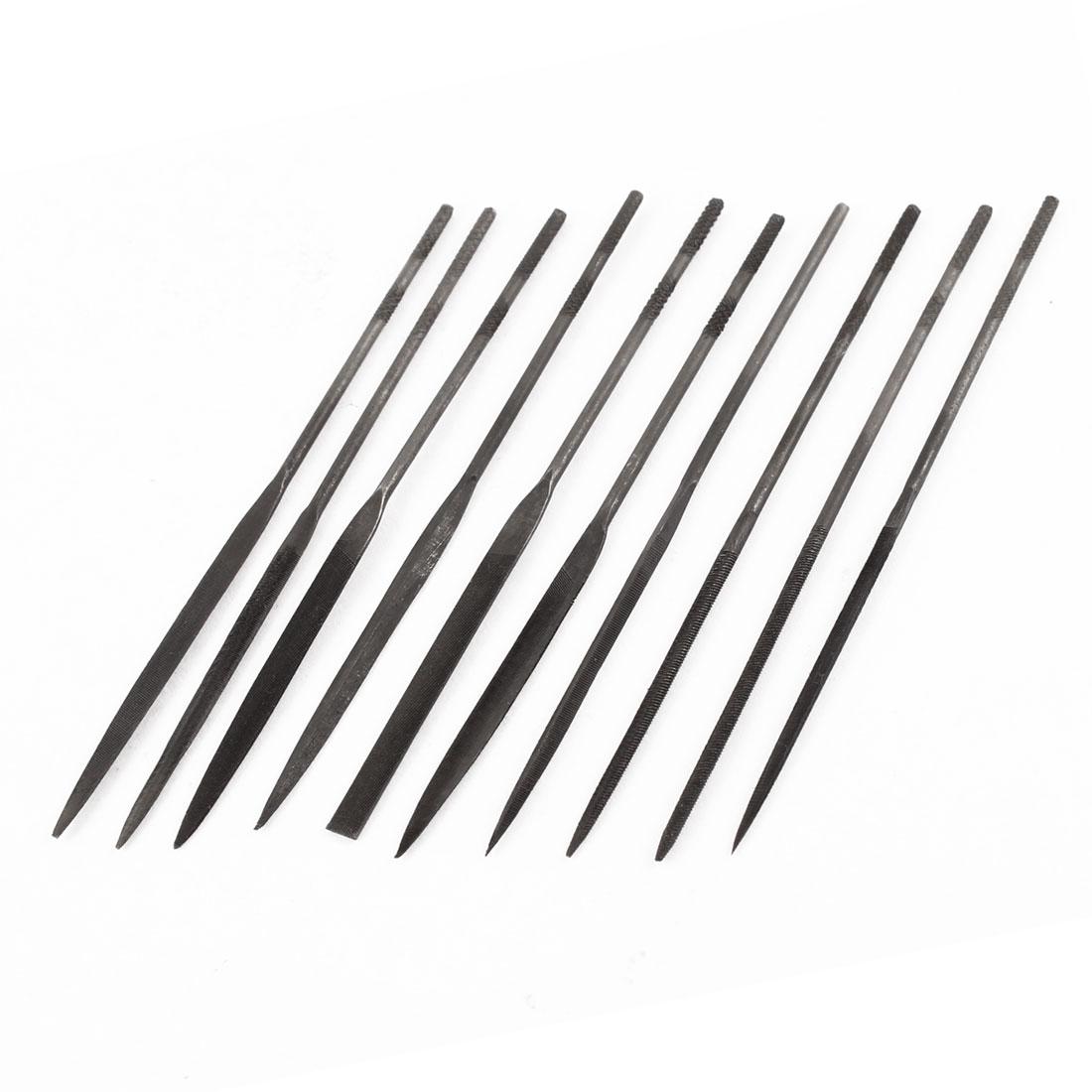 10 Pcs Metal Diamond Wood Carving Craft Mini Needle File 2 x 100mm