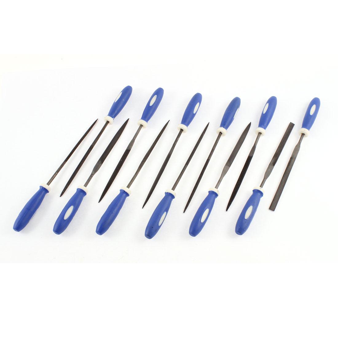 Metal Glass Stone Jewelry Wood Carving Craft Needle Mini Files Set 12 Pcs
