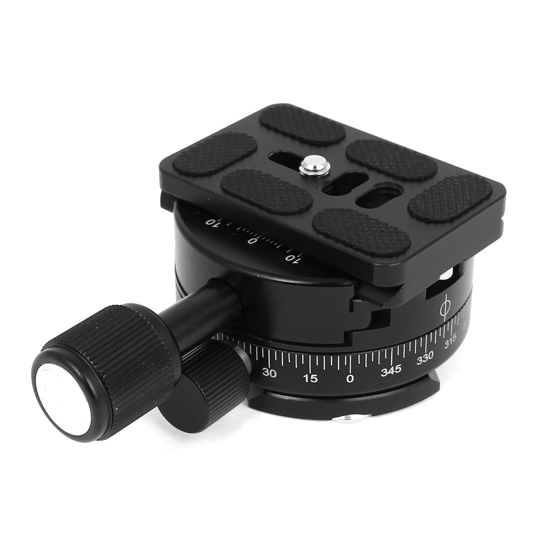 Camera Tripod Head 8kg Load 360 Degree Rotating Quick Release Plate Clamp