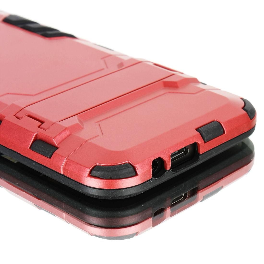 Luxury Shockproof Dirtproof TPU + PC Case Stand Cover for HTC ONE M9 Burgundy