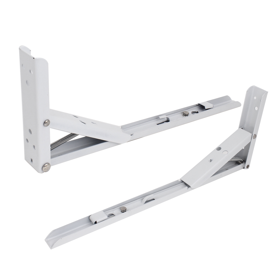 "13.4"" Long Wall Mounted Spring Loaded Folding Shelf Support Brackets Brace 2 Pcs"