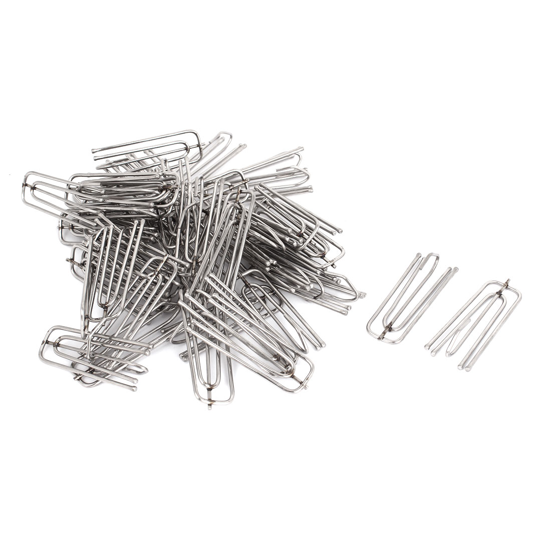 Window Treatment Stainless Steel 4 Prongs Pinch Pleat Drapes Curtain Hooks 50pcs
