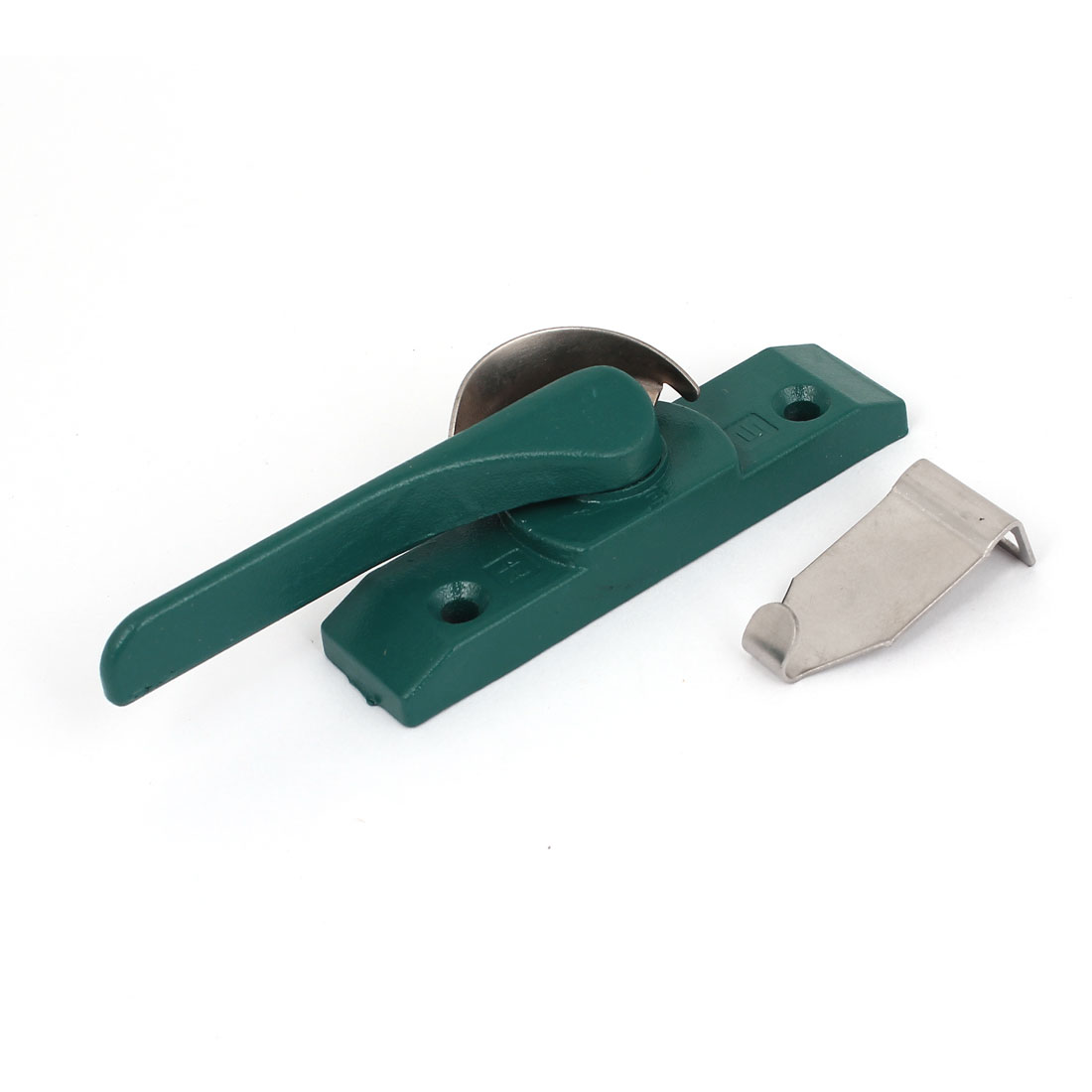 Metal Left Hand Window Locking Crescent Shape Sash Lock Green