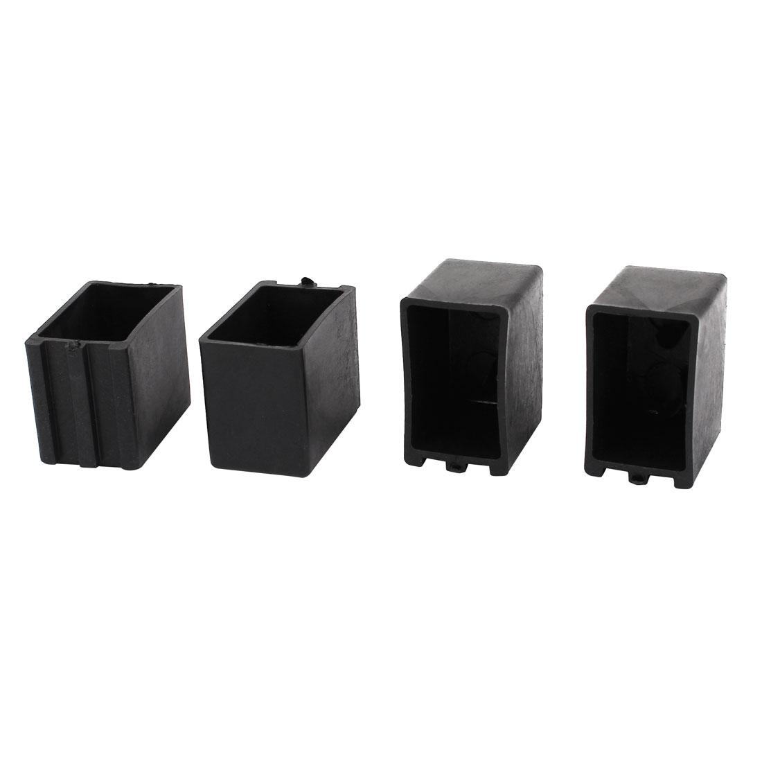 4Pcs Rectangle Shaped Plastic Furniture Foot Leg Corner Protector Pad 25mmx40mm