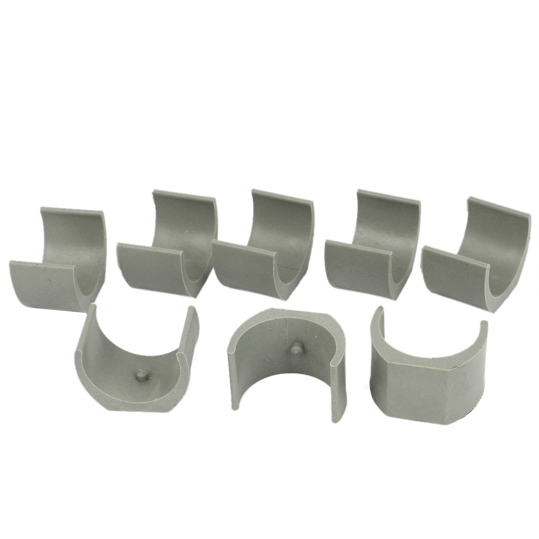 38mm Dia. Nonslip Plastic Round Pipe Clamp Foot Pads for Chair 8Pcs Gray