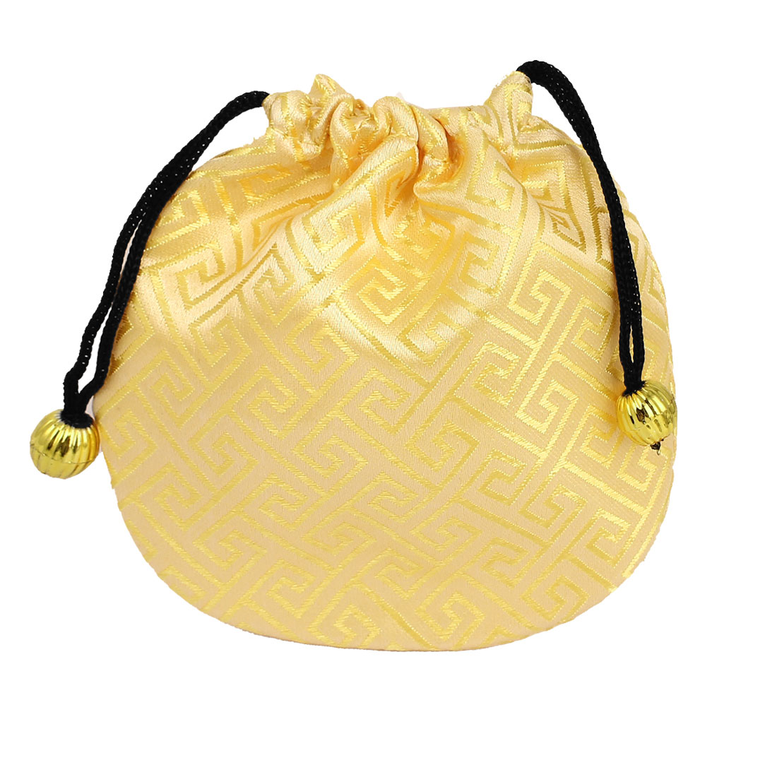 Gold Tone Nylon Drawstring Closure Comestic Jewelry Earrings Gift Bags