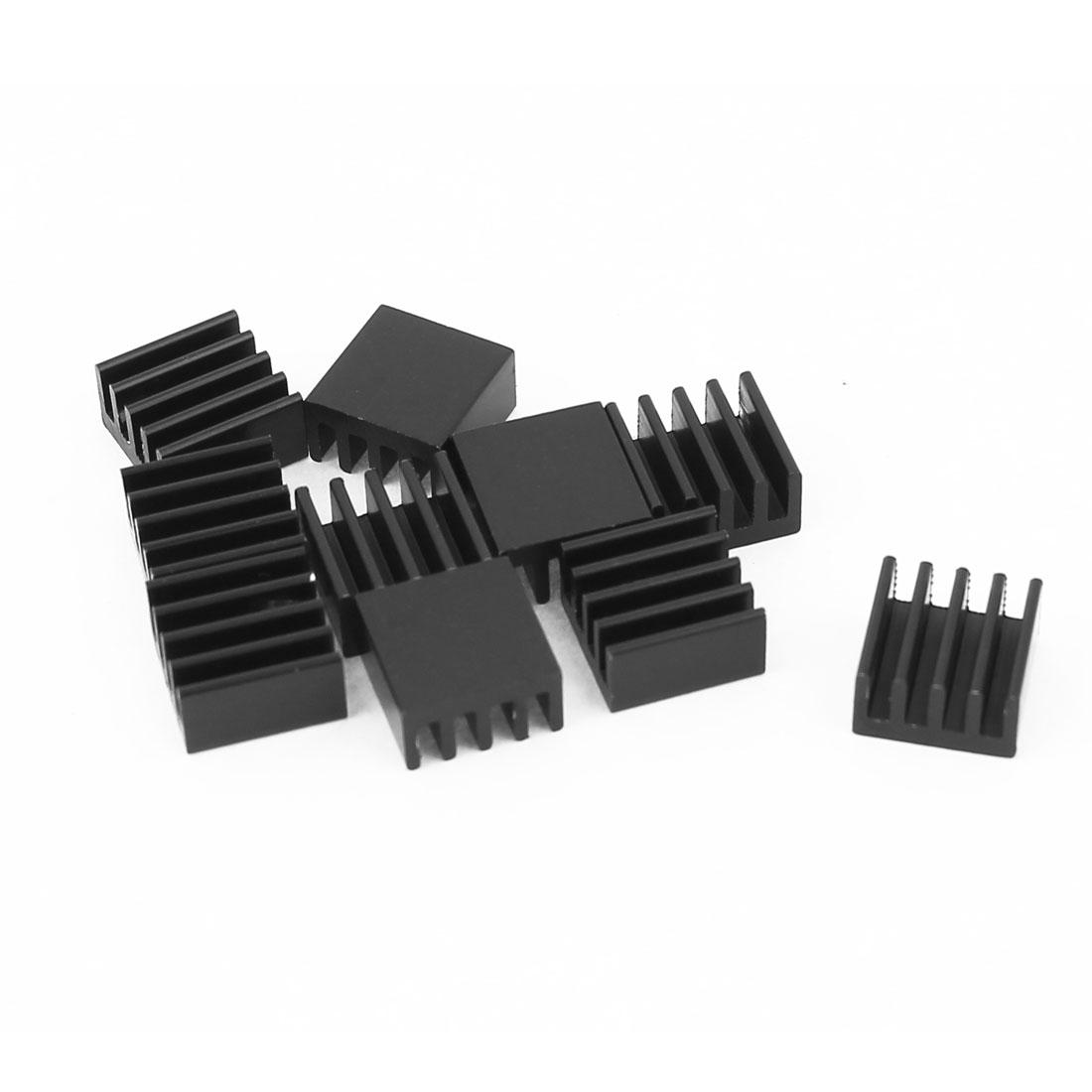 Aluminium Radiator LED Heatsink Heat Sink Black 8.8mmx8.8mmx5mm 10 Pcs