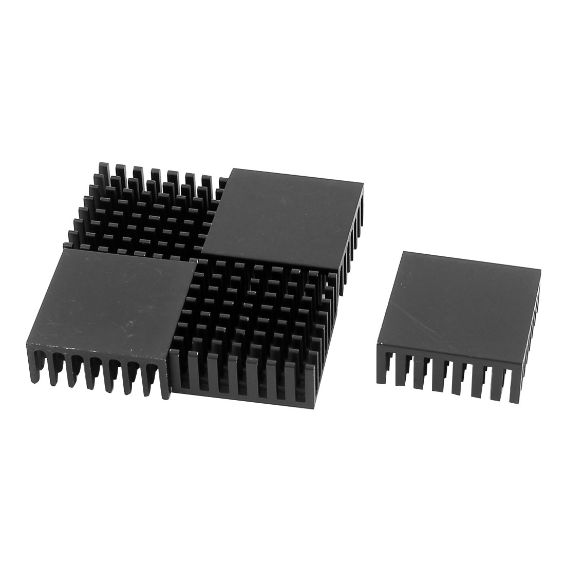 5 Pcs Black Aluminium CPU Radiator Heatsink Heat Sink 25mmx25mmx10mm