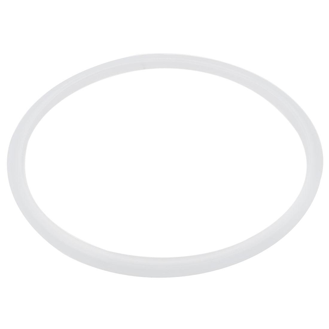 2 Pcs Rubber Pressure Cooker Part Gasket Sealing Ring 22cm Inner Dia White