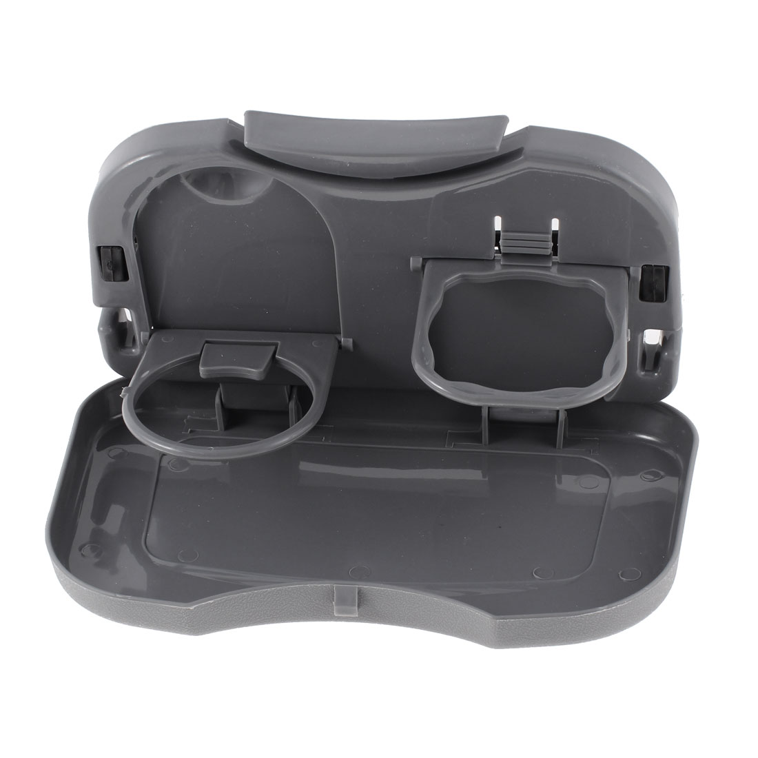Gray Plastic Foldable Multifunctional Meal Portable Travel Dining Car Snack Tray