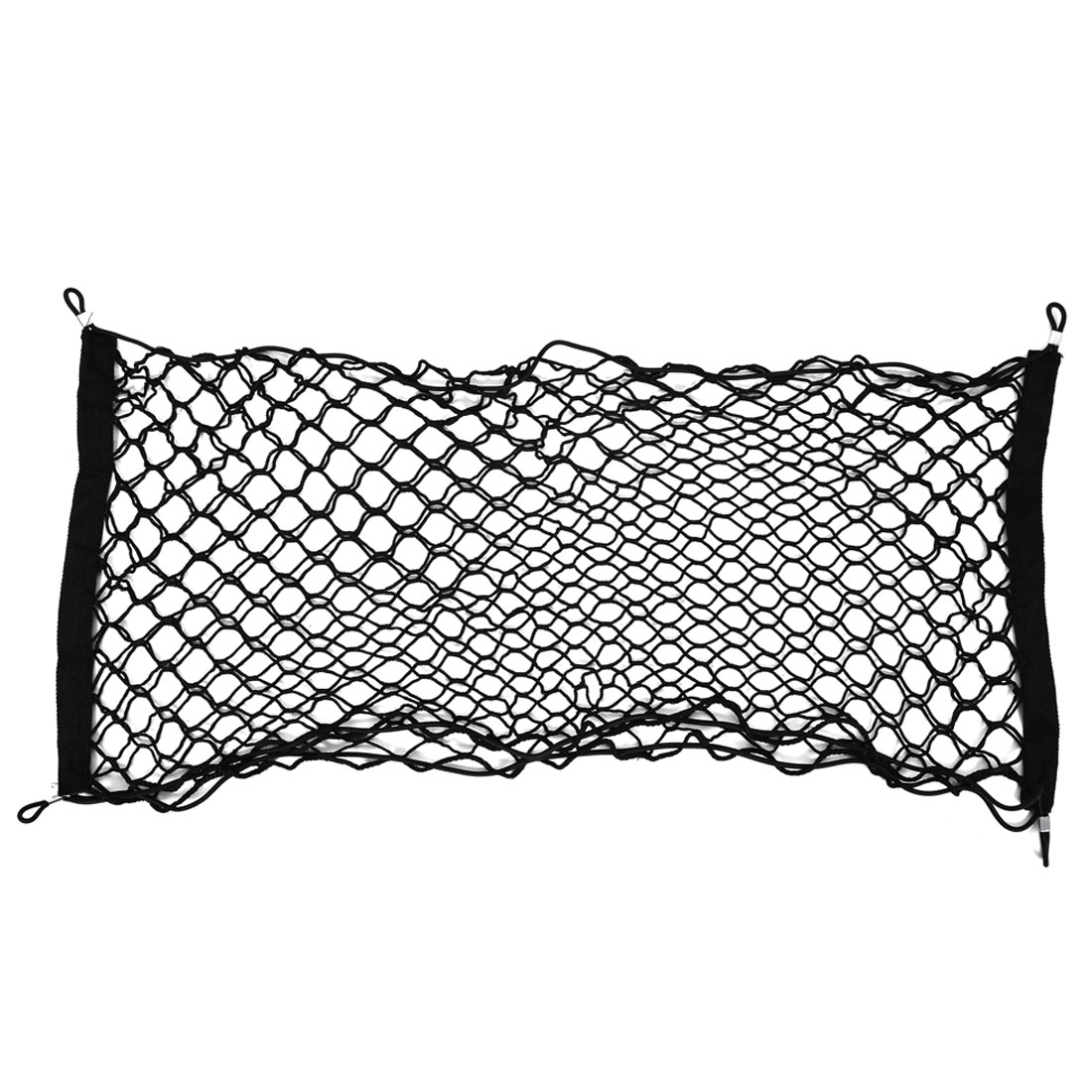 Auto Car Black Nylon Elastic Flexible Bungee Luggage Storage Net 100cm x 40cm