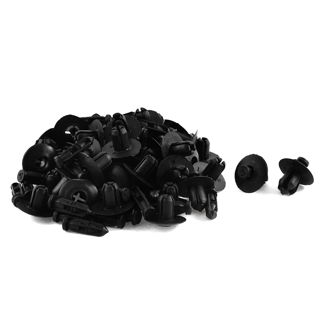 30 Pcs Black Plastic Rivet Trim Fastener Guard Clips 7.5mm x 12mm x 18mm