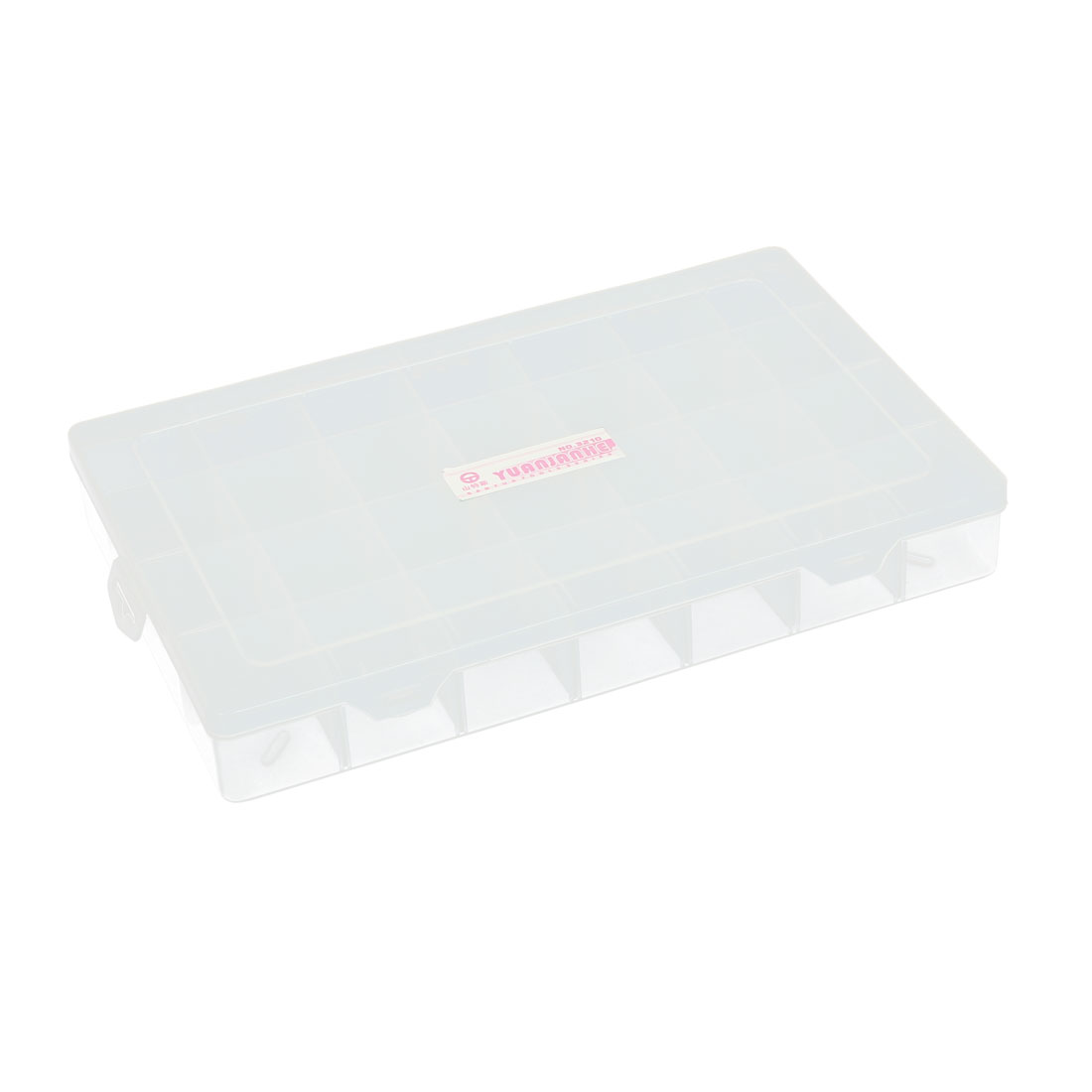 Clear Plastic Detachable 28 Grid Screws Electronic Parts Rectangular Storage Box