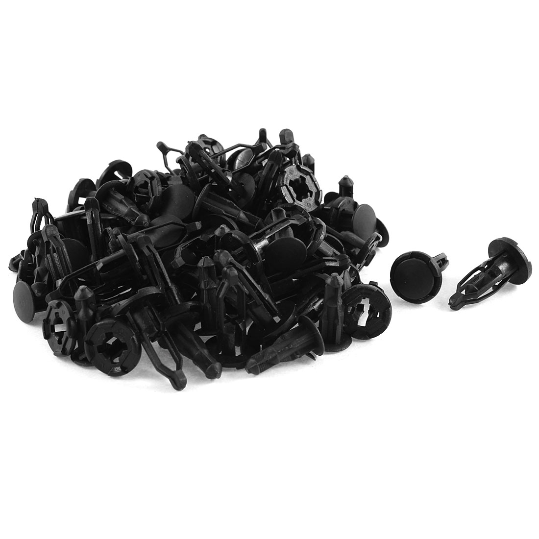 50 Pcs Black Plastic Rivet Trim Fastener Guard Clips 8mm x 17mm x 27mm