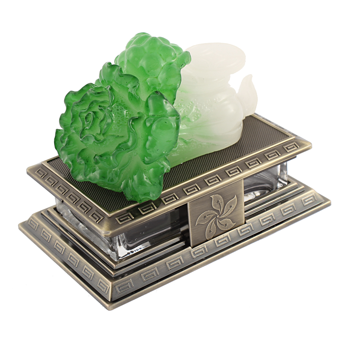 Chinese Cabbage Shape Auto Air Freshener Perfume Block Decoration Green White