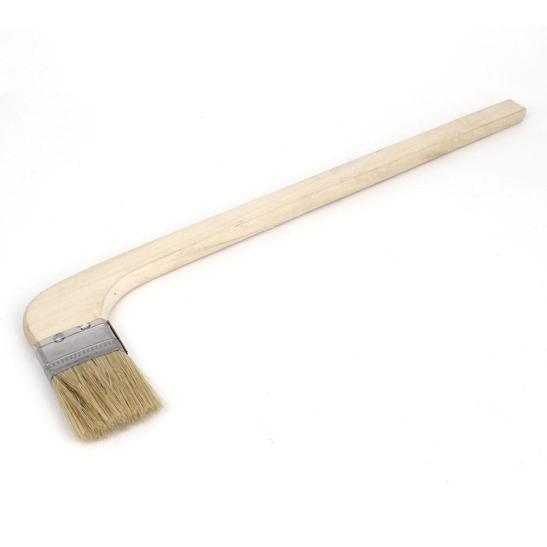 """2"""" Width 90 Degree Bent Handle Metal Ferrule Bristle Oil Paint Brush Tool"""