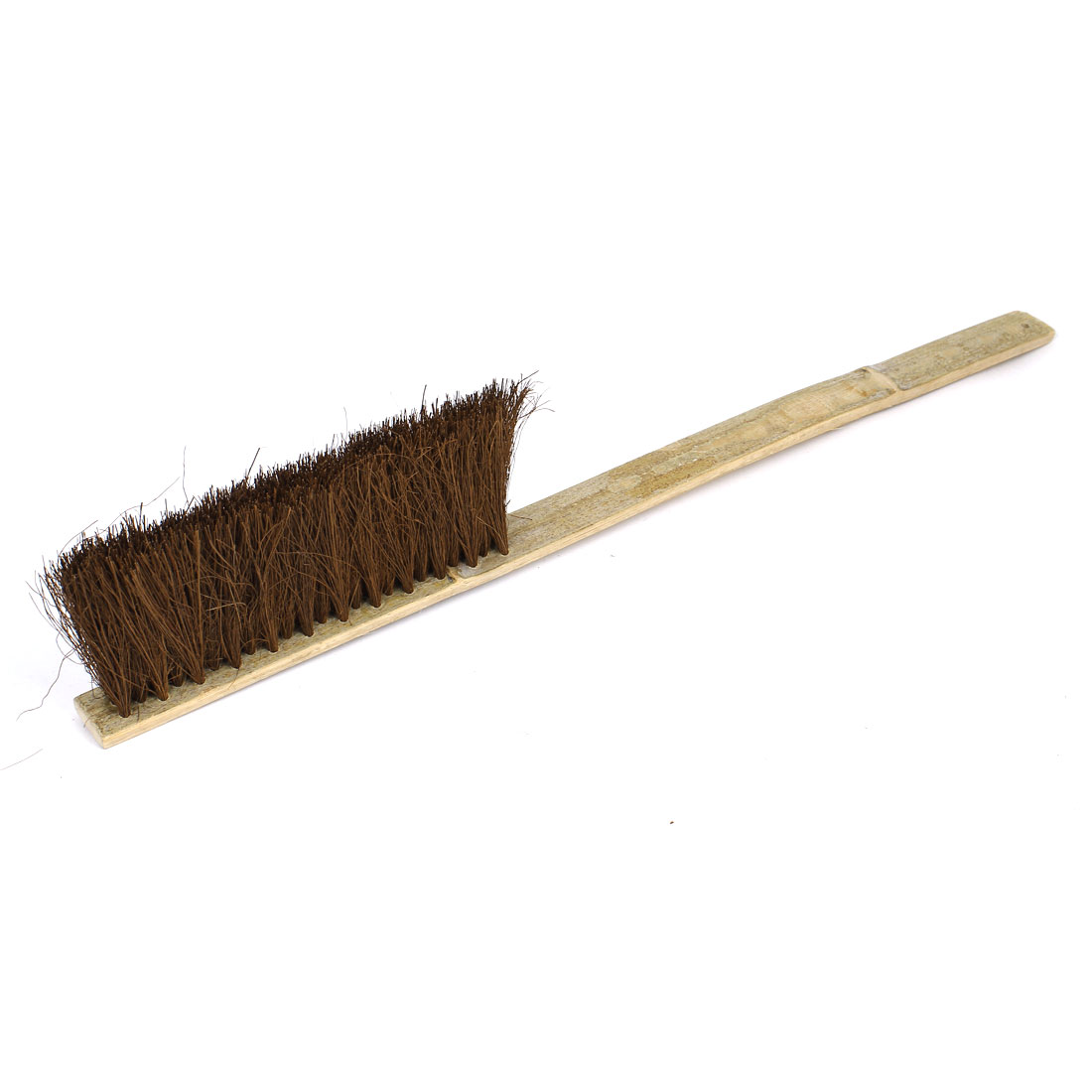 55cm Long Bamboo Handle 3 Rows Bristle Brush Cleaning Tool Coffee Color