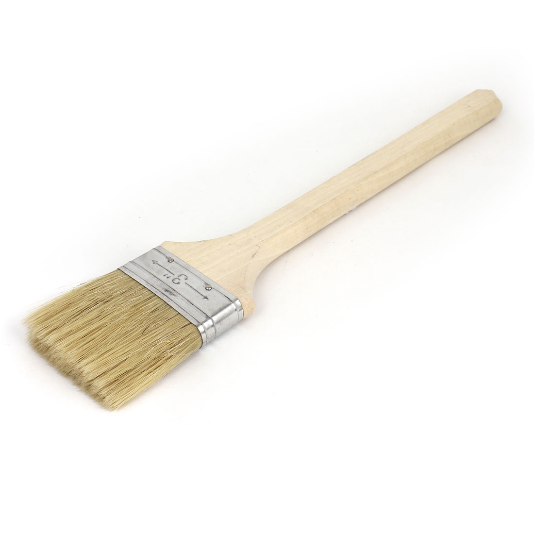 "3"" Width Wooden Handle Bristle Painting Painters Oil Paint Brush Tool"