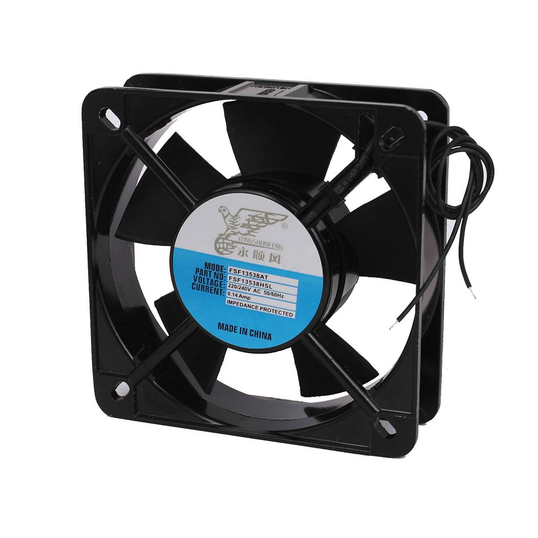 135x40mm Metal Frame Oil Bearing Axial Cooling Fan AC 220/240V