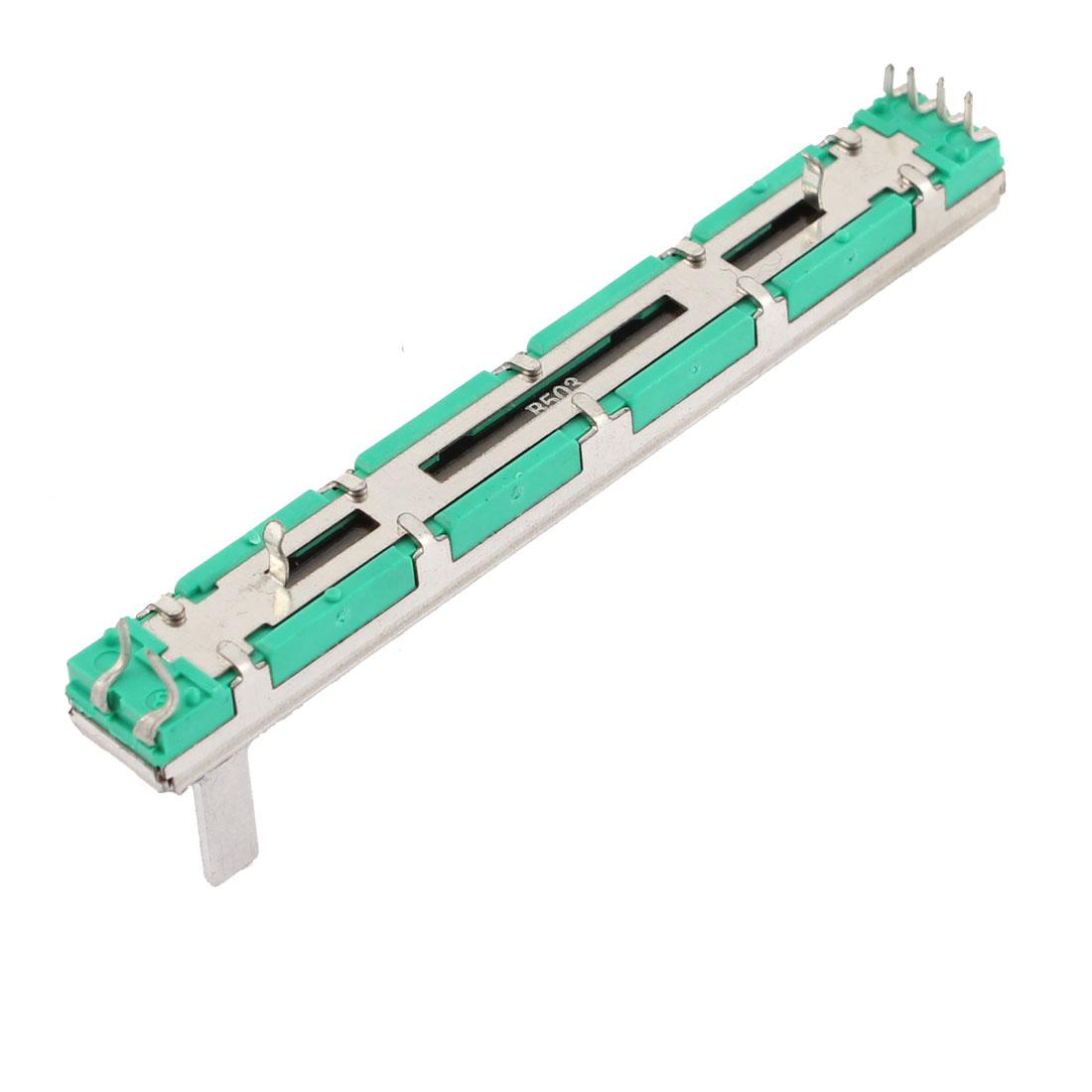 Audio Mixer Pusher 8 Pins 65mm Travel Straight Slide Potentiometer 50K Ohm