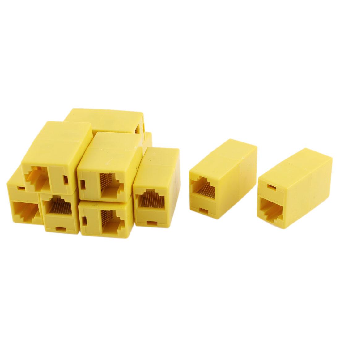Cat5 RJ45 Lan Network Ethernet Cable Extender Joiner Adapter Coupler 10 PCS
