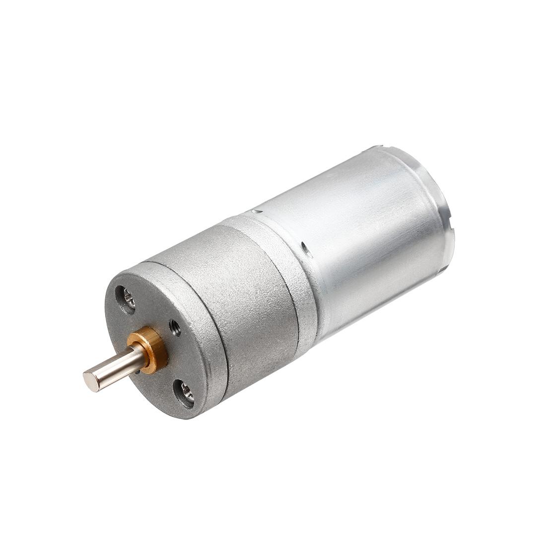 DC 12V 50 RPM 4mm Dia D Shape Shaft Speed Reduce Geared Box Motor JGA25-370
