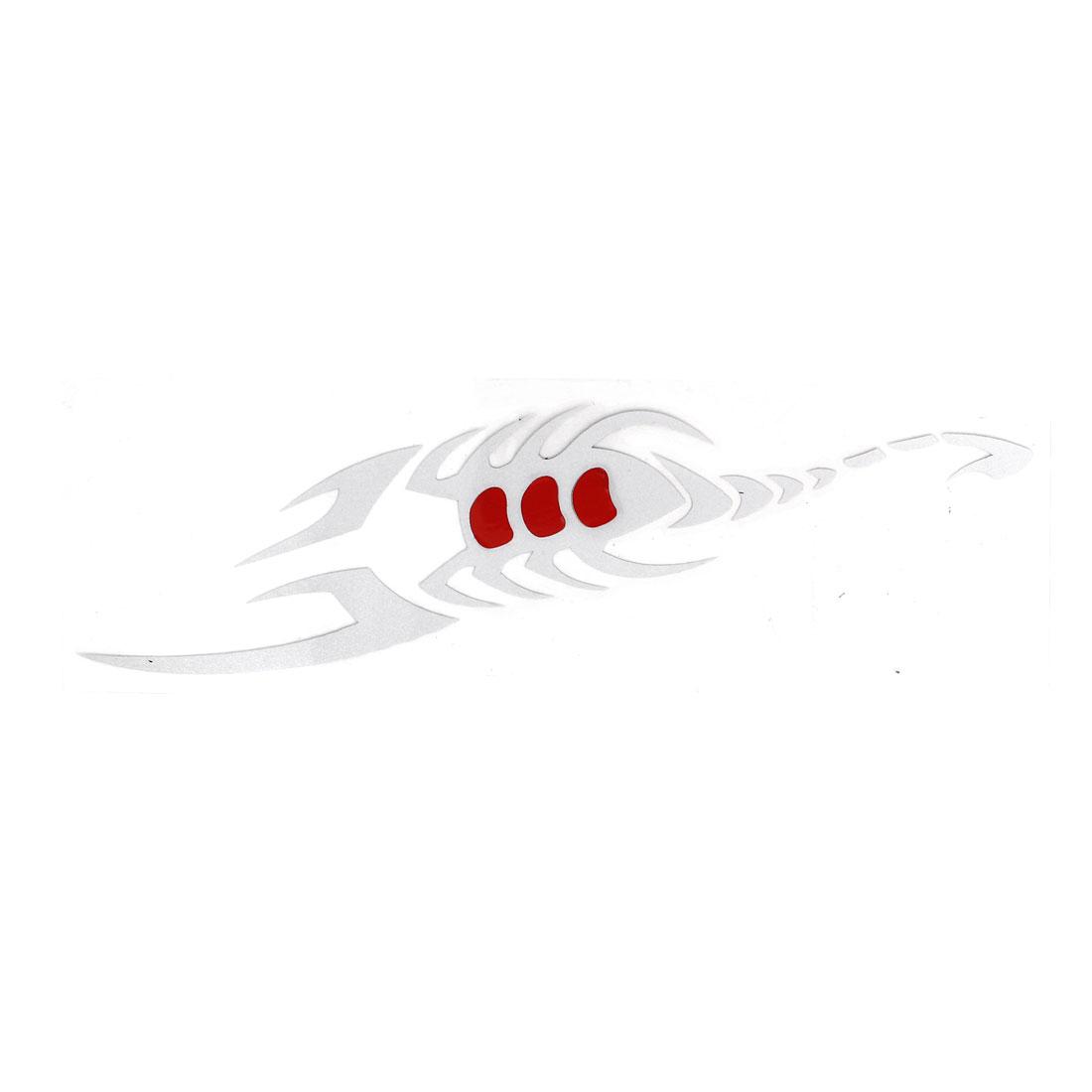 White Scorpion Design Self Adhesive Car Truck Auto Window Stickers Decal Ornamnet