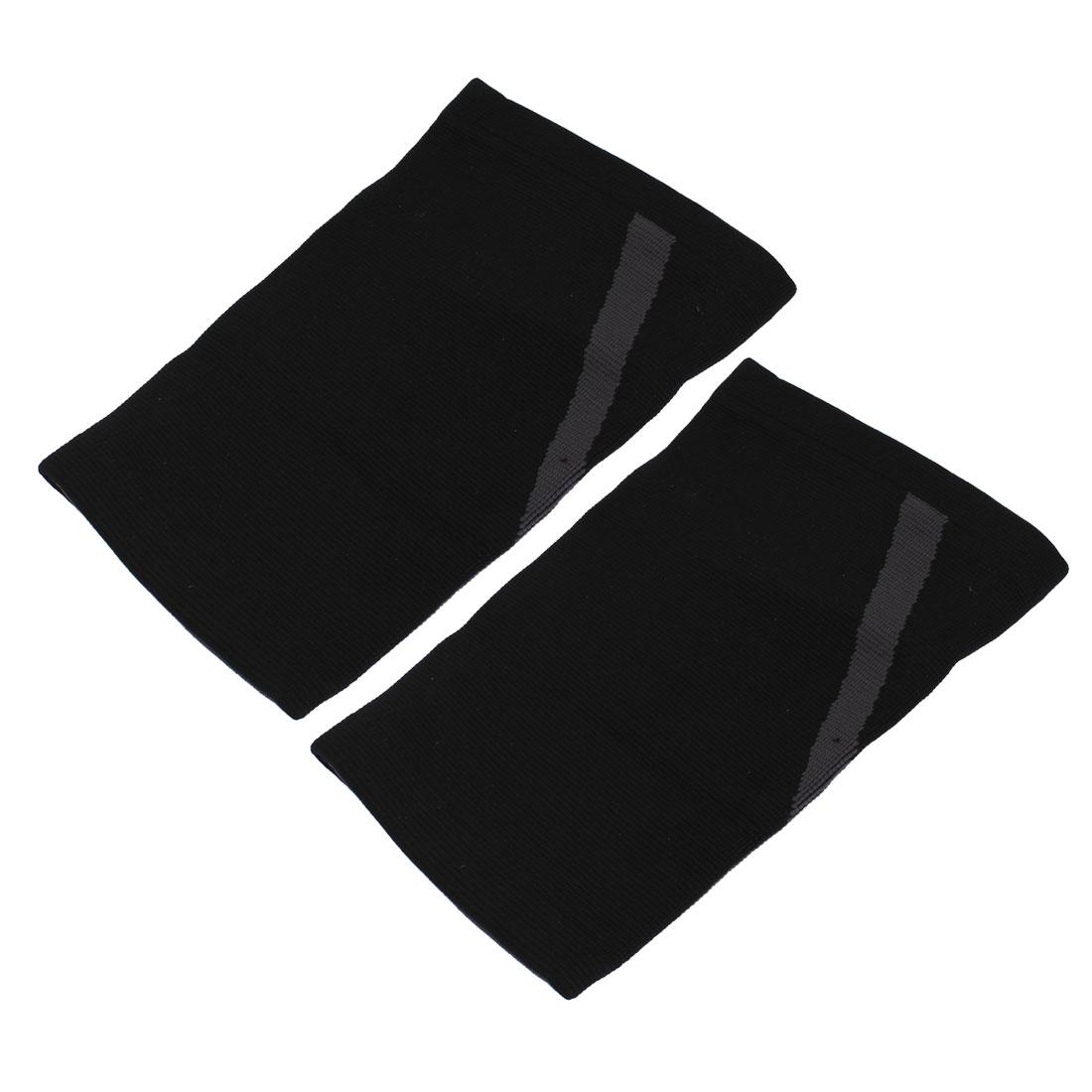 2pcs Black Elastic Knee Support Patella Sports Protective Brace Pad Kneepad