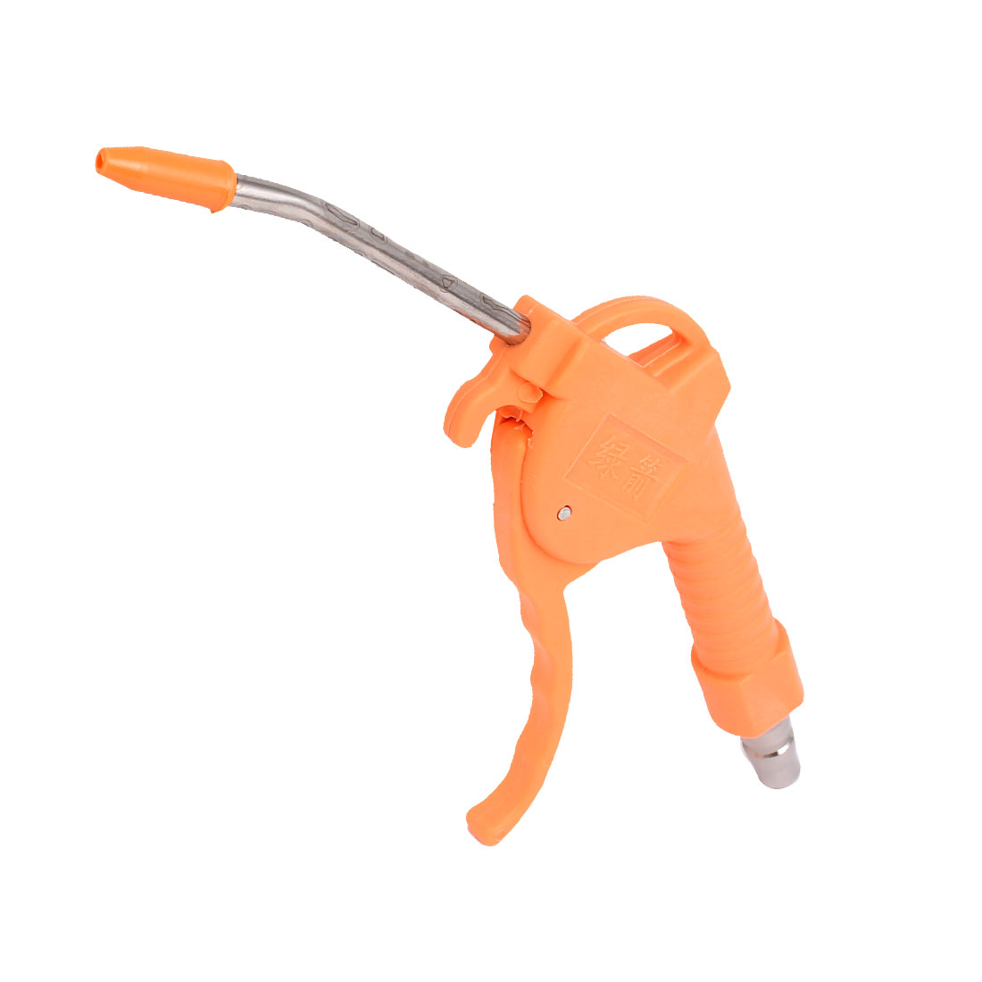 1/4BSP Orange Plastic Handle Metal Bent Nozzle High Pressure Air Blow Blower Cleaner Dust Gun Orange