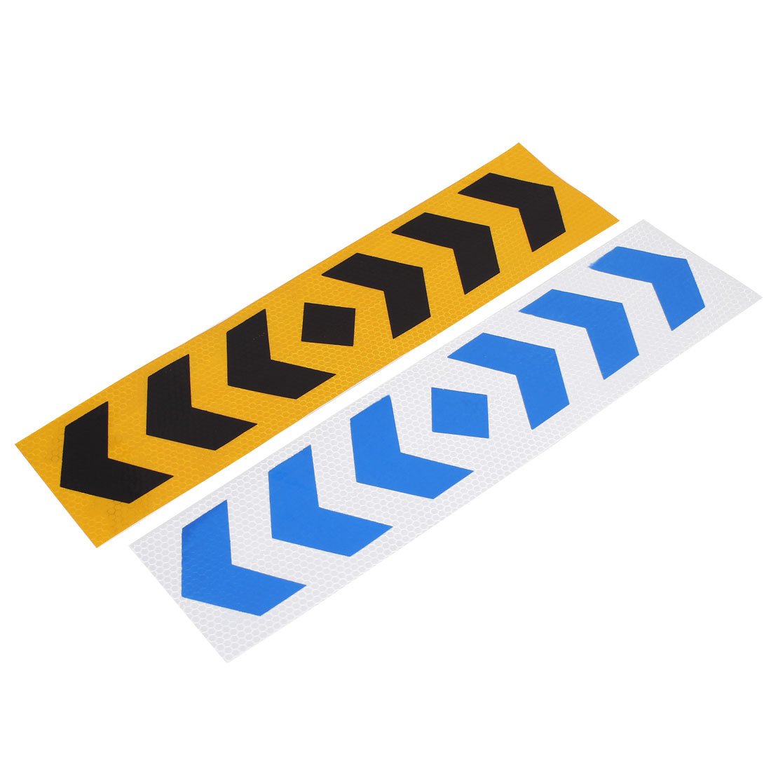 2pcs 40cm Long Arrows Pattern Self Adhesive Car Safety Reflective Warning Sign Stickers Decal