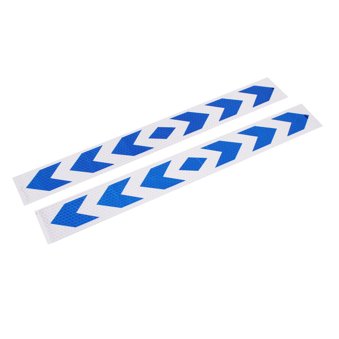 2pcs 40cm x 5cm Arrows Print Self Adhesive Car Auto Reflective Warning Sign Stickers Decal White Blue