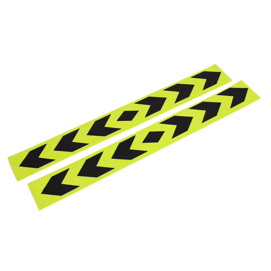 2pcs 40cm x 5cm Arrows Print Self Adhesive Car Auto Safety Reflective Stickers Decal Yellow Black