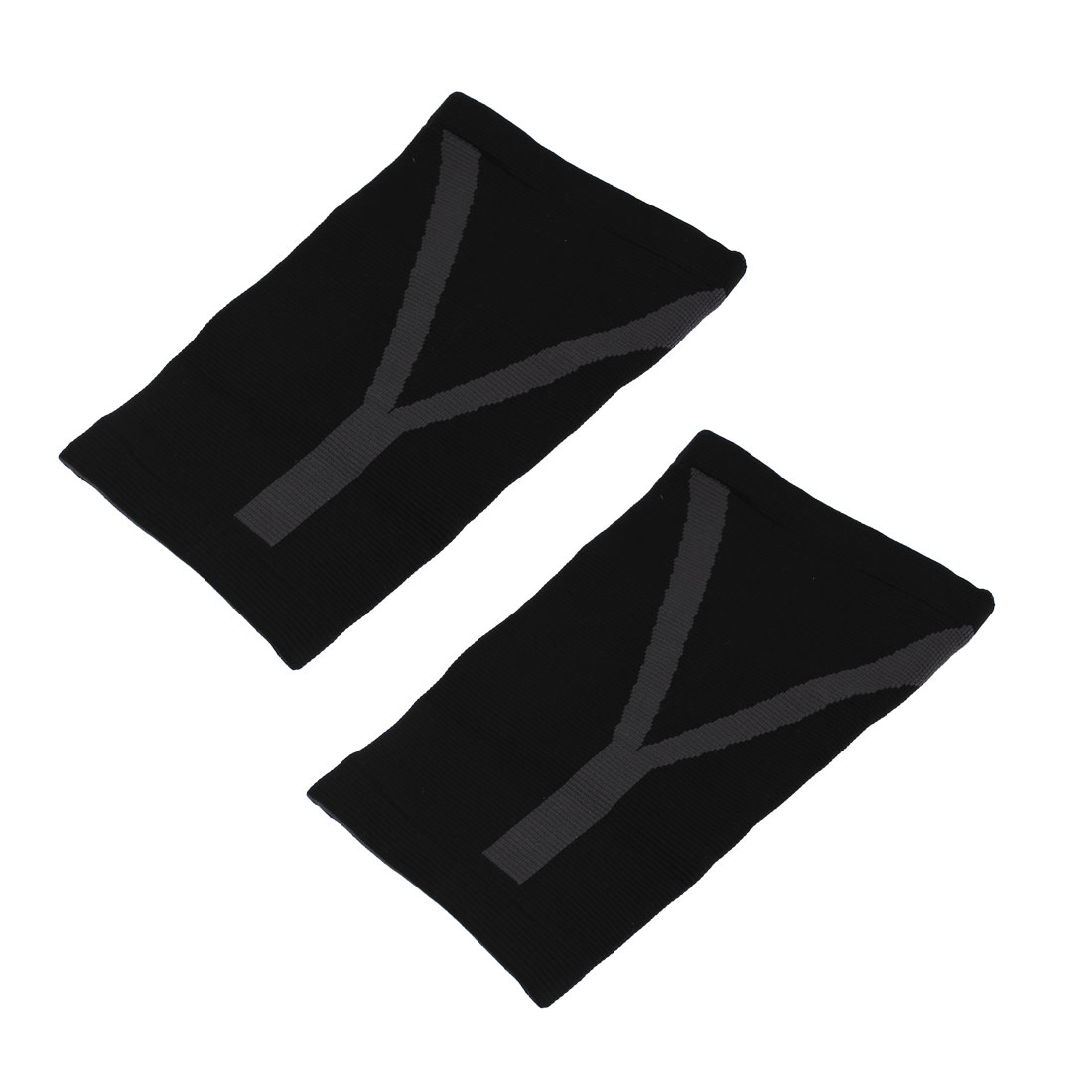Outdoor Sports Gym Black Elastic Knee Support Patella Protector Brace Pad 2pcs