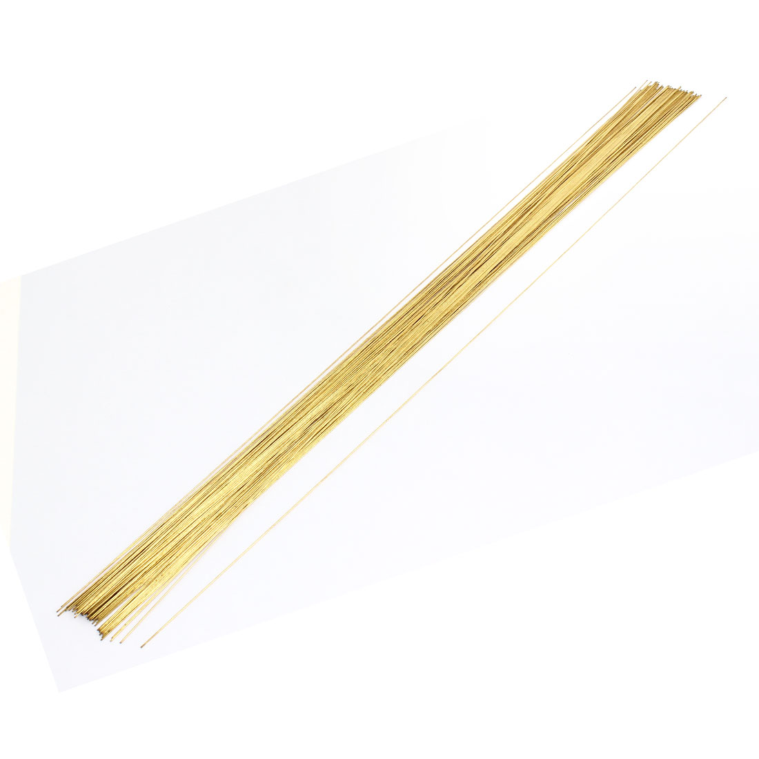 100pcs 0.6x400mm Brass Electrode EDM Tube Pipe for Electrical Discharge Machine