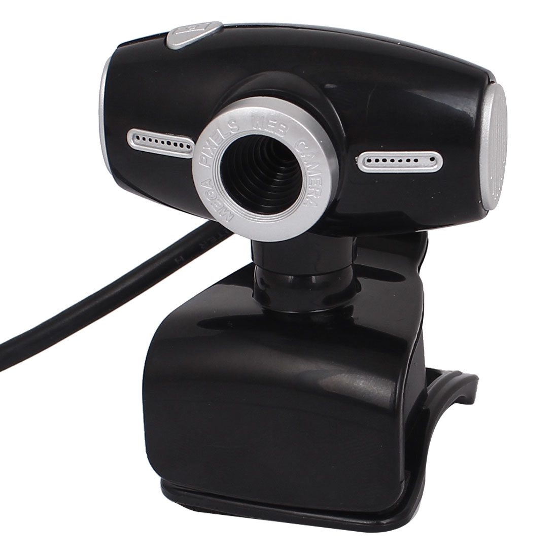 Rotatable Clip-on USB 2.0 Webcam PC Camera w 3.5mm Connector Microphone