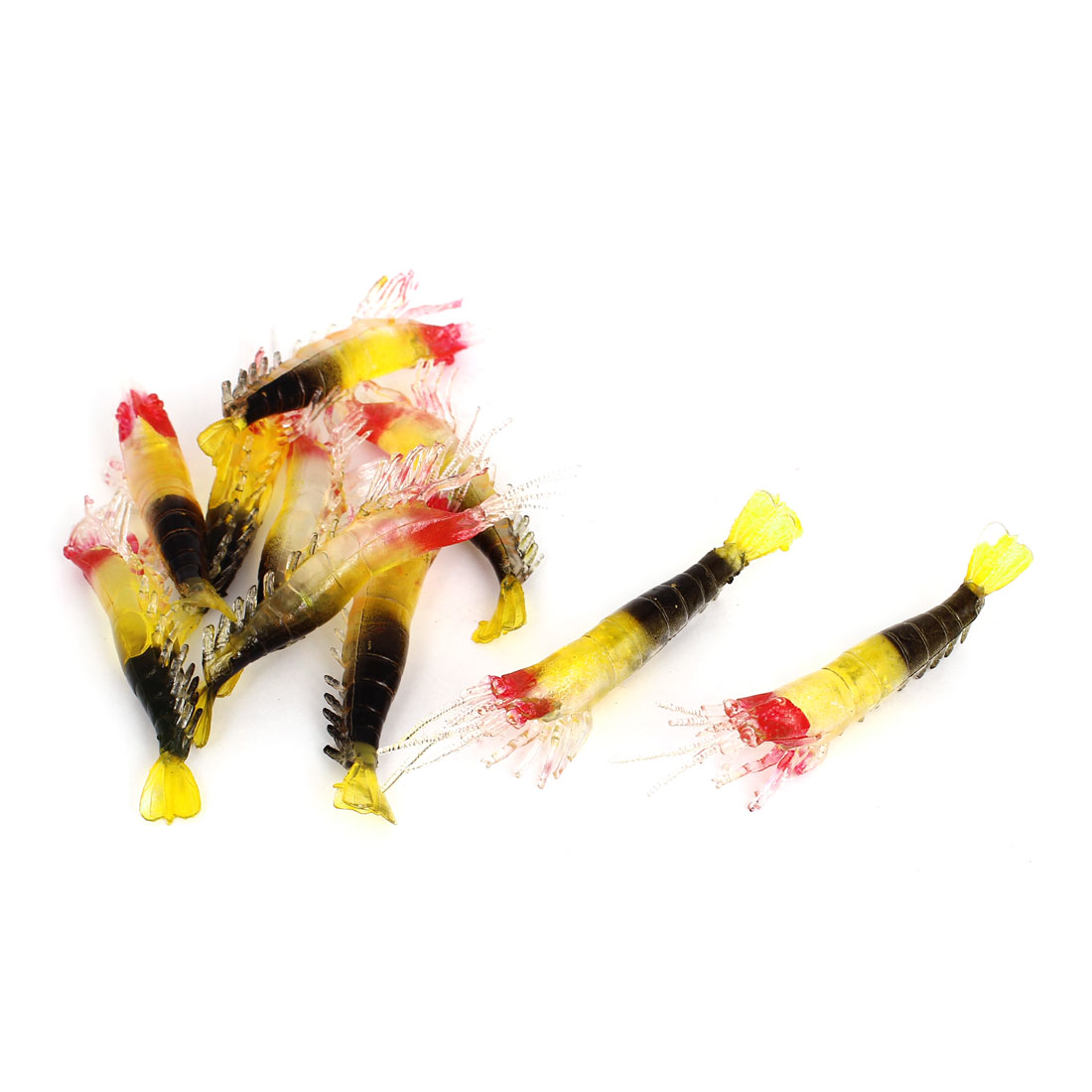 Manmade Artificial Silicone Shrimp Shaped Fishing Fish Baits Lures 10 Pcs