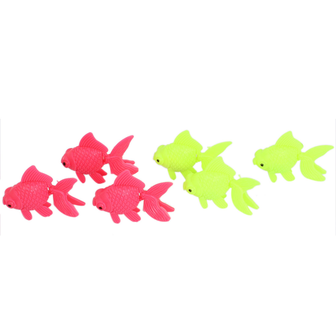 Aquarium Fish Tank Decor Plastic Emulation Floating Goldfish 6Pcs