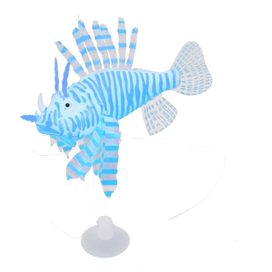 Blue Simulated Artificial Silicone Lionfish Ornament for Aquarium
