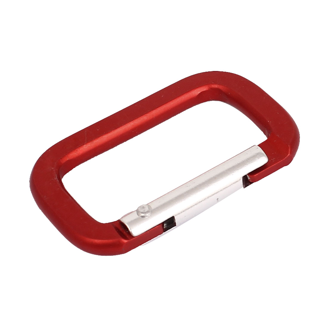 Travel Camping Hiking Aluminum Rectangle Shape Hook Keychain Carabiner Red