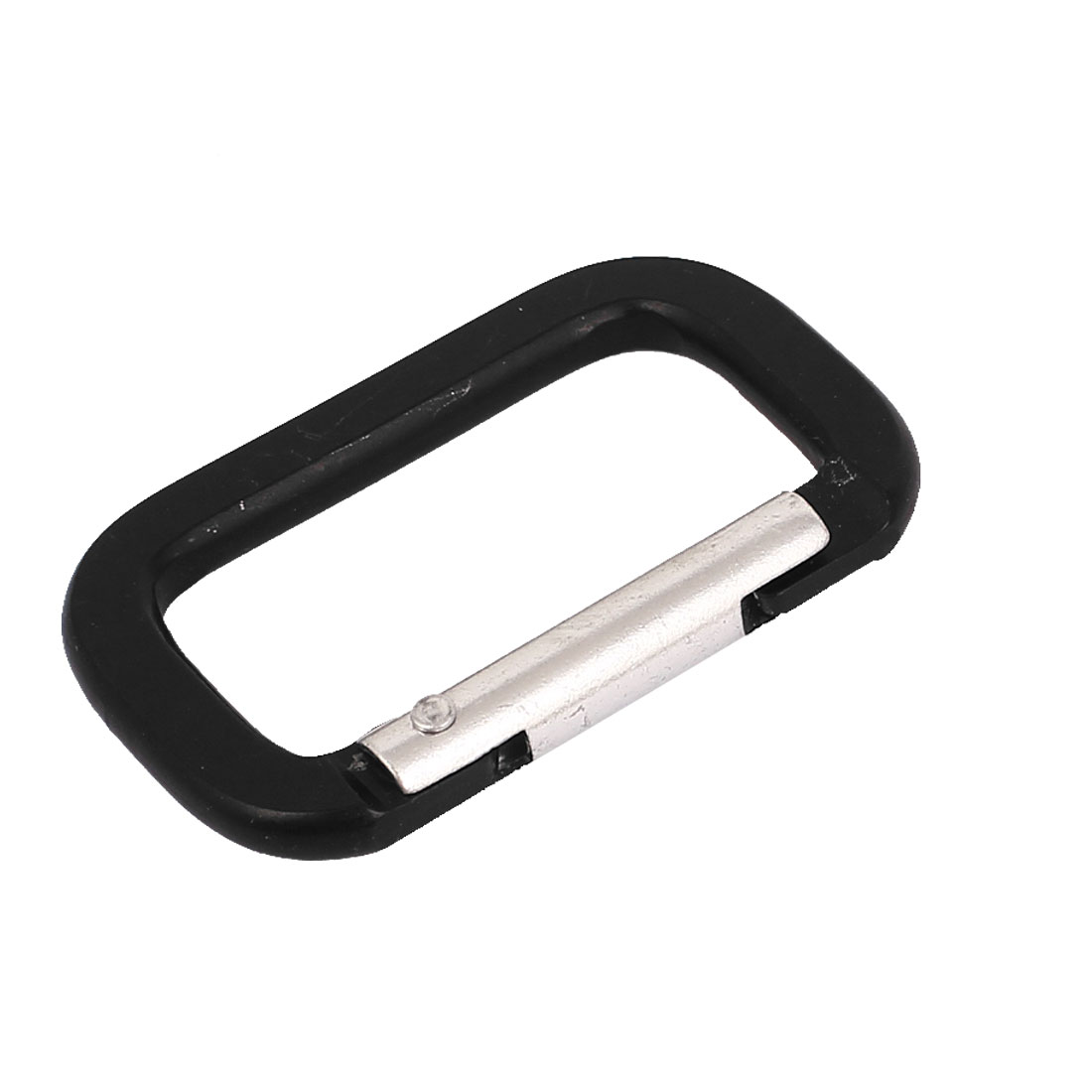 Aluminum Rectangle Shape Travel Camping Hiking Hook Keychain Carabiner Black